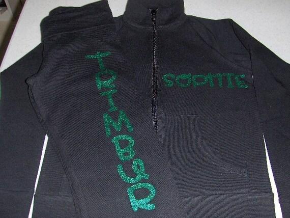 Customized Glitter Warm-up Jacket & Pants