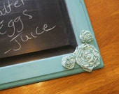 Clearance Only 10.00 Turquoise Chalkboard- Upcycled cabinet door