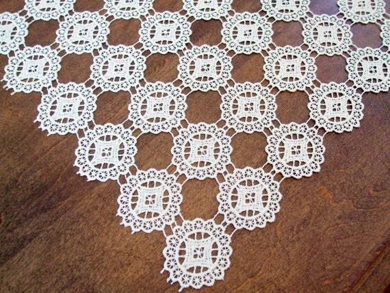 Vintage Crochet Doily Centerpiece