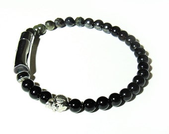 The JIG. 6mm Mens bracelet with steel clasp Mens LRG