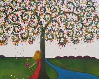 Tree of Life -  Blank Greeting Card by Australian Artist Christine Donaldson