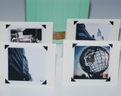 Blank Photo Note Cards New York City Sights - Set of 4 NYC Notecards Paper Goods Handmade Stocking Stuffer