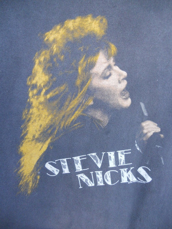 "RESERVED for LoveStreetVintage Vintage '86 STEVIE NICKS ""Rock a Little"" Tour Shirt"