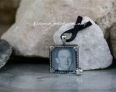 Wedding Photo Memory Pin / Honor someone special / Men's lapel Pin / Klidonas Photo Jewelry