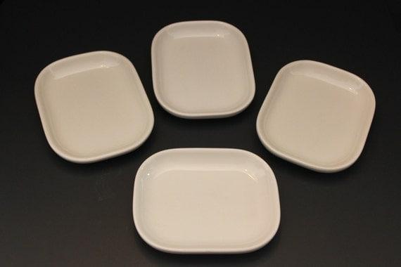 Homer Laughlin BAXTER Restaurant Ware FOUR Side Plates Ivory Dish VINTAGE Retro