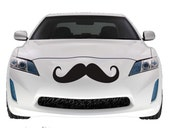 Mustache Car Decal, Large Vinyl Sticker, 2 PACK , 22""