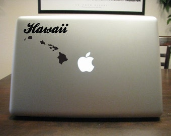 Hawaii State Decal - Vinyl Sticker- For Car, Window, Laptop, Wall
