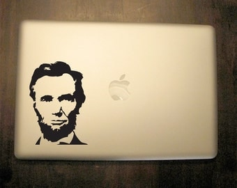 Abraham Lincoln Decal - Vinyl Sticker, For Car, Window,  Laptop, Wall