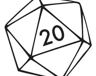 rolling a 20 sided die