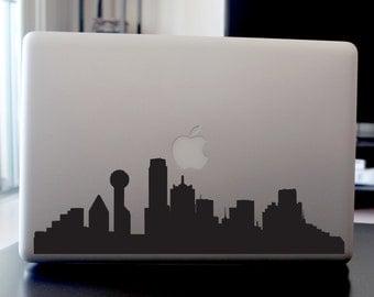 Dallas Skyline Decal - For Car Windows,  Laptops, Walls etc.