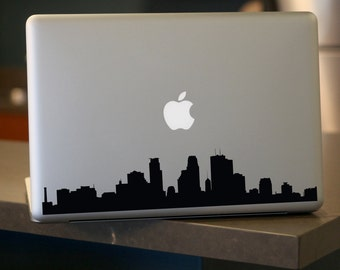 Minneapolis Skyline Decal - For Car Windows,  Laptops, Walls etc.