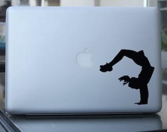 Cheerleader Decal, Backflip Gymnastics Sticker - Car Window, Laptop, Wall
