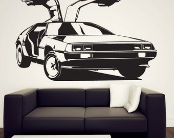 Delorean Wall Decal - Vinyl Sticker - Back to the Future