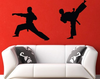 Karate Wall Decal - Vinyl Sticker , Kung Fu - Martial Arts