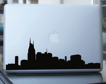 Nashville Skyline Decal - Vinyl Sticker - For Car, Window,  Laptop, Wall