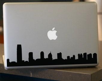 New Jersey Skyline Decal - Vinyl Sticker - For Car, Window,  Laptop, Wall