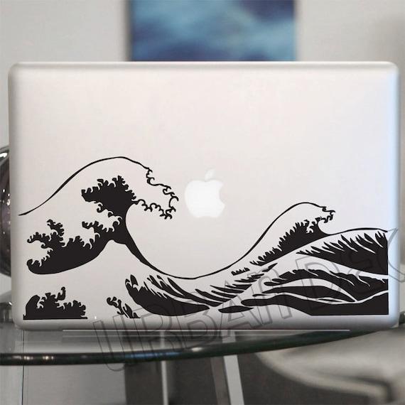 Kanagawa Wave Decal Hokusai Vinyl Sticker Laptop Car