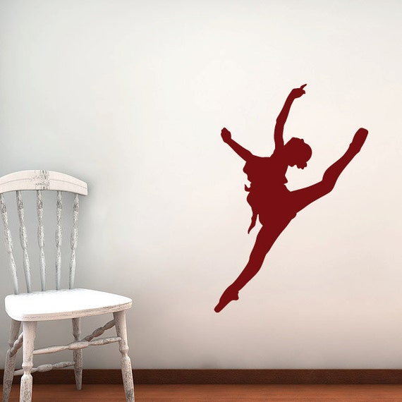 Ballerina Wall Decal- Sticker - Kids Room, Ballet School - 36""
