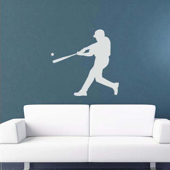 Baseball Player Wall Decal -Sticker - Kids Room, Sports, School