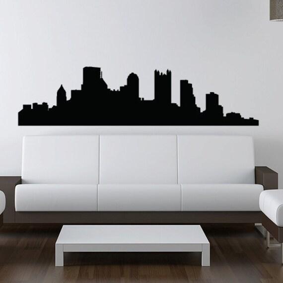 Pittsburgh Skyline Wall Decal - Vinyl Sticker - Pennsylvania