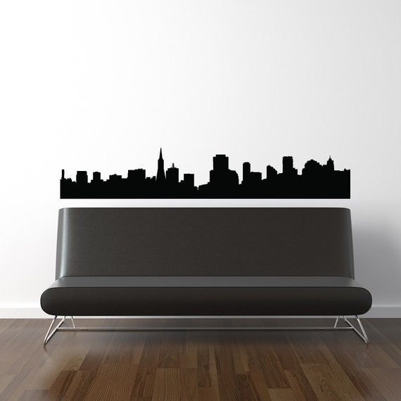 San Francisco Skyline Wall Decal - Vinyl Sticker - California