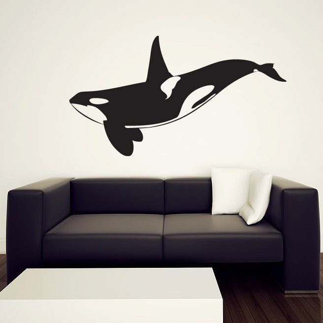 Orca Whale Wall Decal Killer Whale Vinyl Sticker