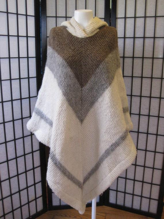 Gray Poncho Sweater