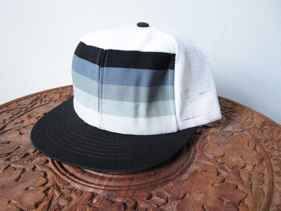 80s Gray Scale Trucker Hat Deadstock NWOT