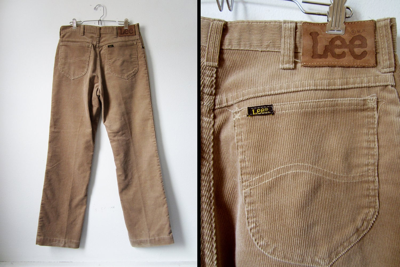 b4e3c325 Vintage 70s Lee Riders Corduroy Pants 31x32 by MemoryVintage