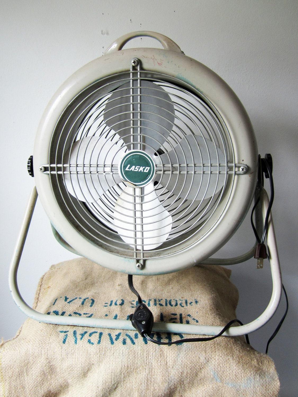 Vintage Floor Fans : Industrial floor fan lasko model vintage s