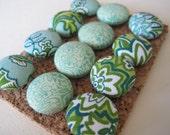 Green Paisley Pushpins