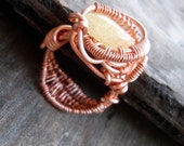 Copper Wrapped // Danburite // Wire Ring
