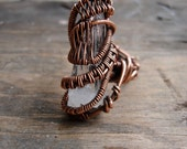 Copper Wrapped // Lemurian Seed // Quartz // Wire Ring