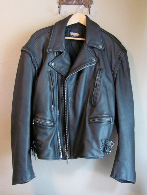 Price Reduced - Men's Easy Riders Men's Heavy Duty High Quality American Made Biker Jacket Size XL