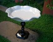 Vintage Inspired Beige Cupcake Stand / Dessert Pedestal