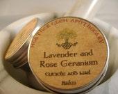 Lavender and Rose Geranium Cuticle and Nail Balm