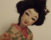 Japanese Costume Doll Antique Music Box