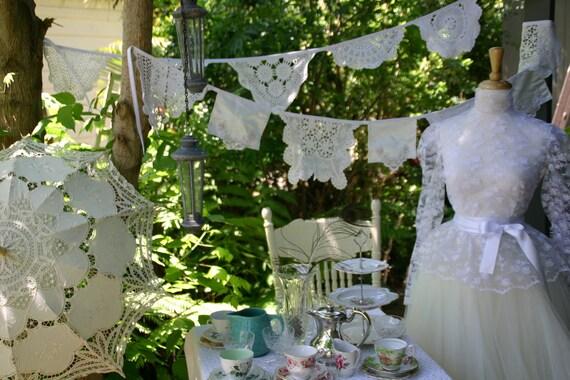Vintage Wedding Crystal Beaded Bunting
