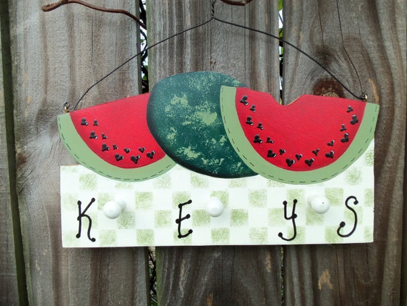 Watermelon key ring holder