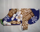Great Hawaiian Print Dog Coat - Medium