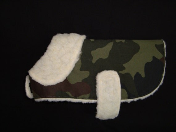 Green Camouflage Dog Coat - Small