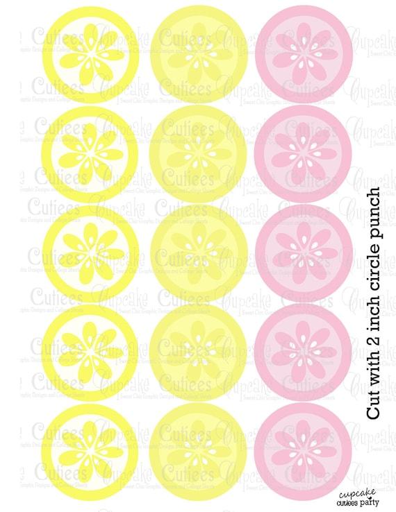 Pink Lemonade LEMONS Digital Collage by CupcakeCutieesParty