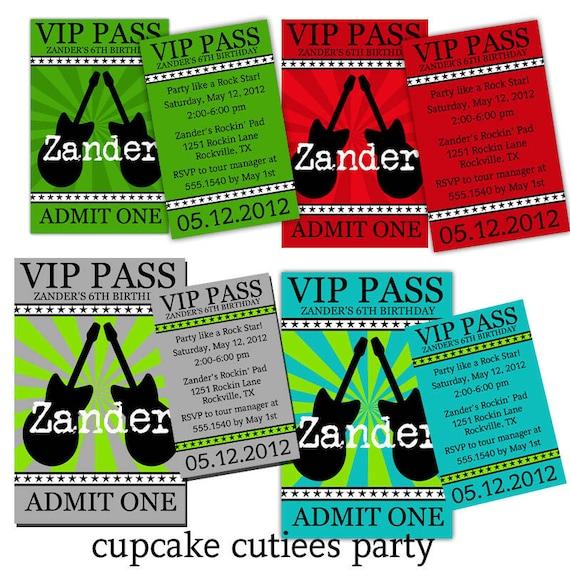 Decorative Wedding Invitation Badge 7: ROCK Star BoY VIP Lanyard Badge Custom By CupcakeCutieesParty