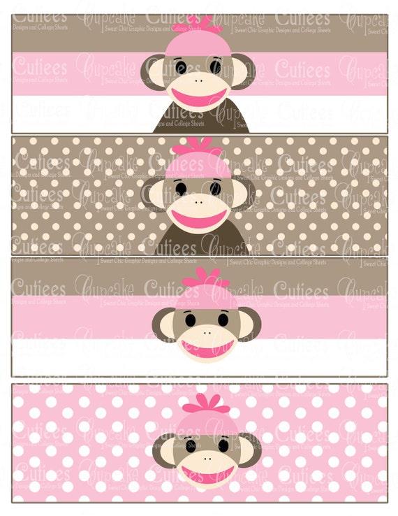 Chicas del calcetín NEO Rosa mono Digital por CupcakeCutieesParty