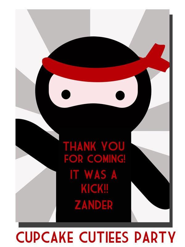 Ninja LoVe THANK YoU Digital Custom by CupcakeCutieesParty on Etsy