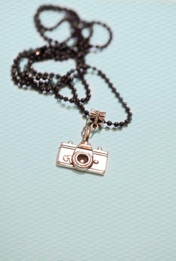 Camera Pendant . Ball Chain . Photographer
