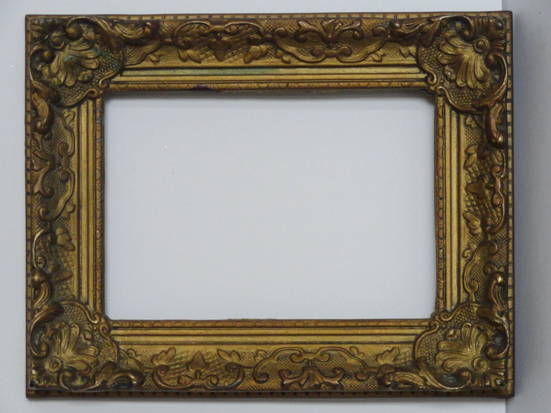 Vintage Ornate Rococo Gold Plastic Picture Frame 7 X 9