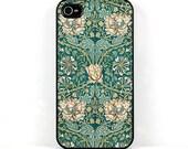 Honeysuckle Floral iPhone 6 Case - Plastic iPhone 5 case, William Morris Vintage Flower Design iPhone SE case, iPhone 5C Smartphone case