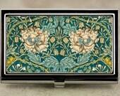 William Morris Honeysuckle Floral Business Card Case, Credit Card Case