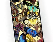 Vintage iPhone Case, Art Deco Butterflies, Colorful Retro iPhone 4 5 6 Case, iPhone Cover, Plastic iPhone Case